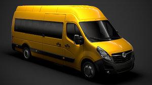 vauxhall movano l4h3 minibus 3D model