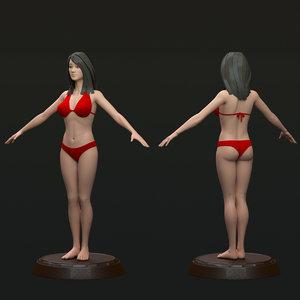 3d modeled body female