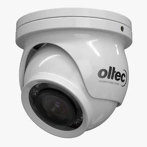 realistic cctv camera oltec 3D model