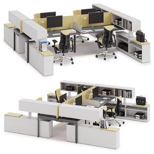 3D herman miller layout model
