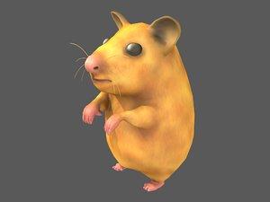 syrian hamster 3D model