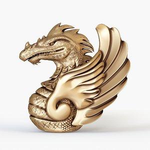 3D dragon bust