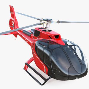 3D civil helicopter airbus h130