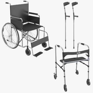 3D mobility aids model