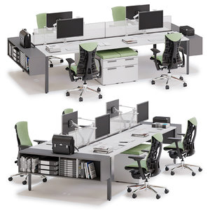 3D model herman miller layout