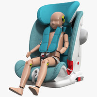 3D child crash test dummy