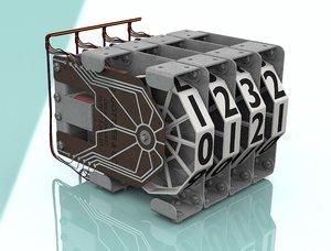 3D seven pinball machine parts model