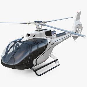 3D light civil helicopter rotor model