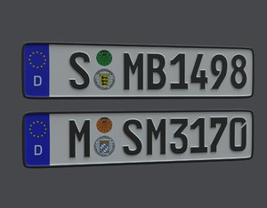 license plate germany eu model