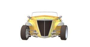 classic rase car 3D