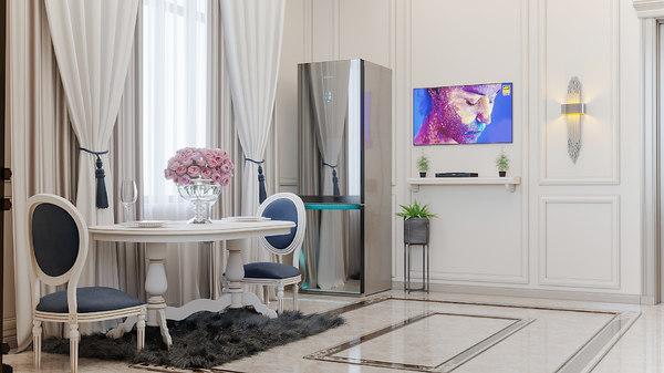 kitchen interior scene neoclassic 3D model