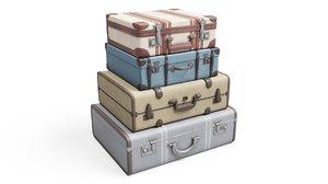 3D set suitcases model