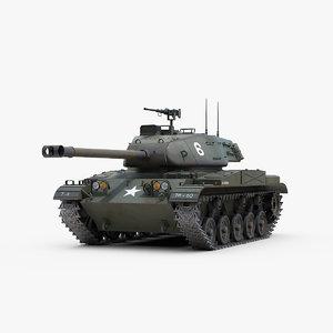 3d model m41 walker bulldog tank track