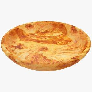 3D model wooden plate