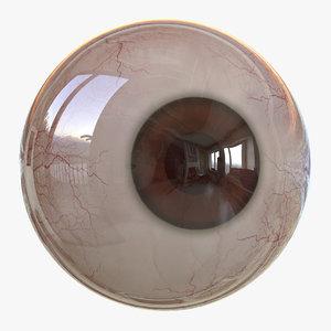 3D eyes v-ray