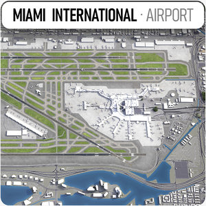 3D model miami international airport mia