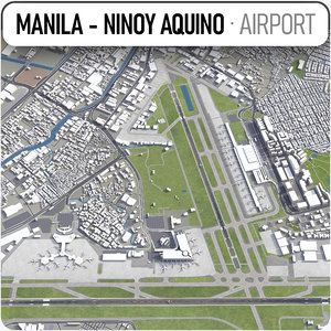 aquino international airport mnl 3D model