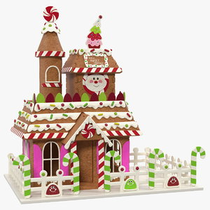 3D christmas gingerbread houses model