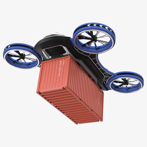 heavy duty cargo quadrocopter 3D model