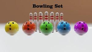 3D bowling set