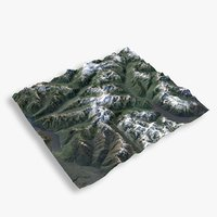 3D model mountain redoubt