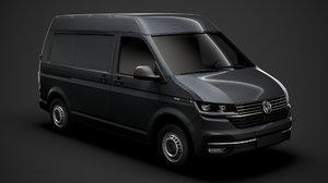3D volkswagen transporter van l1h2