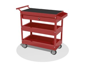 3D truck cart trolley