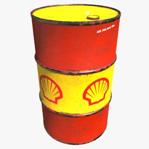 3D barrel shell oil
