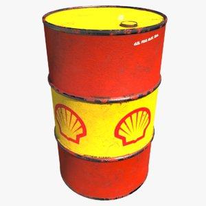 3D barrel shell oil