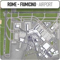 3D international airport leonardo da
