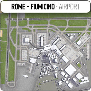 3D international airport leonardo da