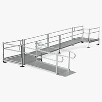 aluminum modular wheelchair ramp 3D