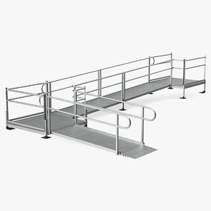aluminum modular wheelchair ramp 3D