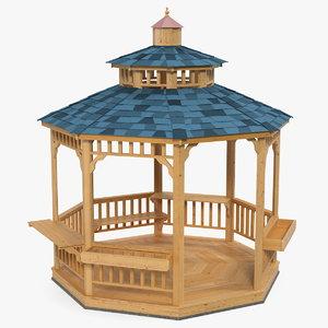 gazebo pavilion structure 3D