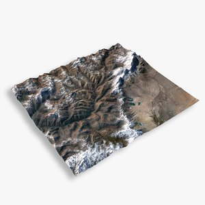 mountain thimphu 3D model