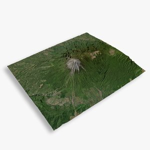 3D model mountain semeru