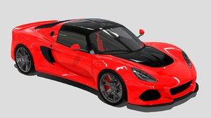 3D roadster car model