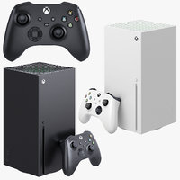 xbox series x console 3D model