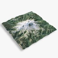 3D model mountain rainier terrain