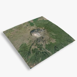 mountain tambora 3D model