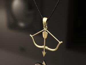 casting gold 3D model