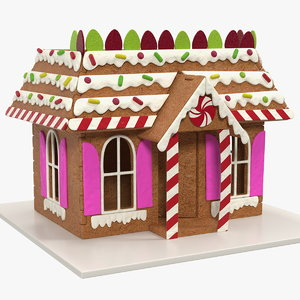 cookie dough gingerbread house 3D model