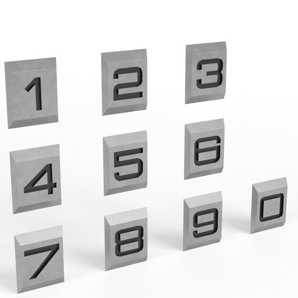 3D engraved numbers