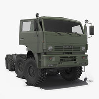 heavy offroad chassis kamaz 3D model