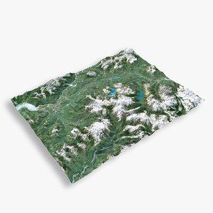 3D mountain garibaldi terrain