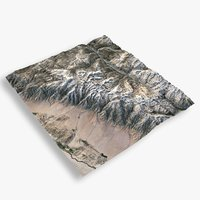 mountain whitney terrain 3D model