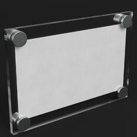 wall mounted glass plate 3D model