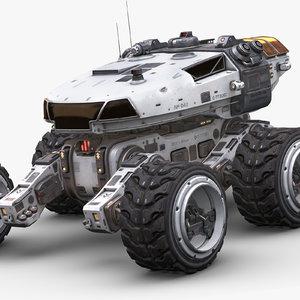 mars rover white 3D