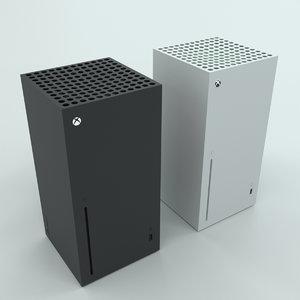 3D model series x xbox