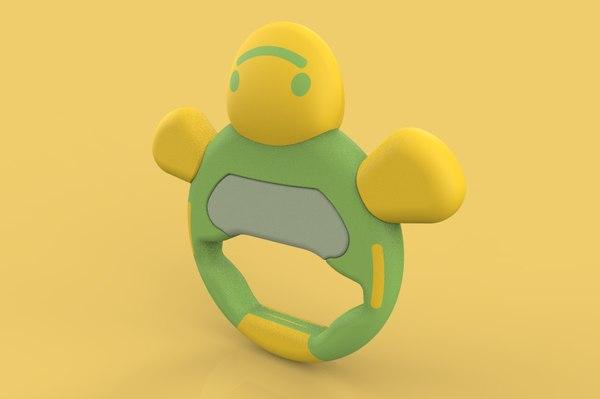 3D baby rattle model